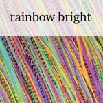 Fine featherheads - perje u kosi - rainbow bright